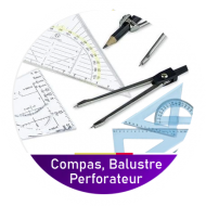 Compas, balustre, perforateur etc